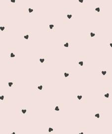 Behang Kinderkamer Black Hearts Pearl Rose Lilipinso