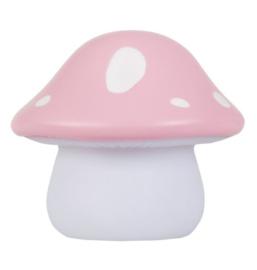 Nachtlampje Kinderkamer Paddenstoel Roze