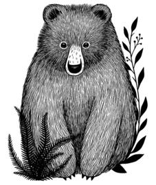 Muursticker Kinderkamer XL Bear