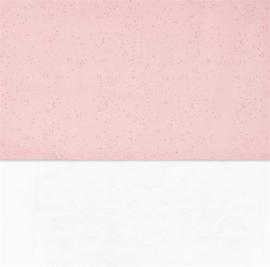 Ledikant Lakentje Mini Dots Pink