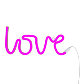 Wandlamp Kinderkamer Love Neon Stijl Roze