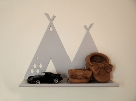 Wandplank Kinderkamer Tipi Shelf Grey