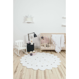 Vloerkleed Kinderkamer Roundy Biscuit White