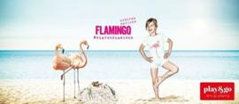 "Play & Go Opbergzak en Speelgoedkleed ""Flamingo"""