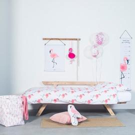 Kinder Dekbedovertrek Flamingo's Jollein