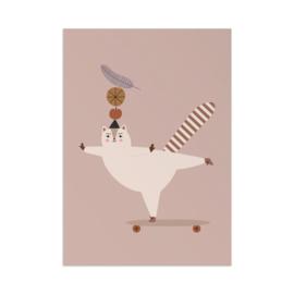 Beer Eekhoorn Art Print A3