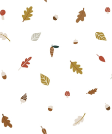 Wallpaper Seamless Pattern with Autumn Leaves Lilipinso