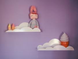 Wandplank Kinderkamer Cloud Shelf White
