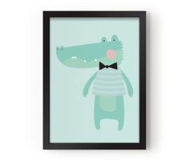 "Poster Kinderkamer ""Kroko"" Eef Lillemor"
