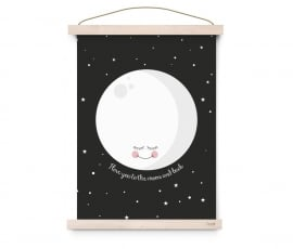 "Poster Kinderkamer ""I love you to the moon and back"" Eef Lillemor"