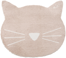 Vloerkleed Kinderkamer Cat Earnie Beige Mini collectie 70 x 80 cm