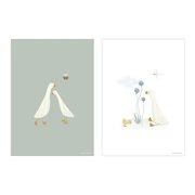 Poster Kinderkamer Little Goose dubbelzijdig A3