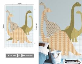 Inke XL Muurprints Behang Dino 153