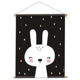 Poster Textiel Kinderkamer Lovely Rabbit