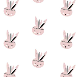 Behang Kinderkamer Bunny Pink