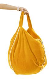 Beanbag Kinderkamer Bubble Velvet Mustard