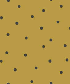 Behang Kinderkamer Playful Dots Mustard