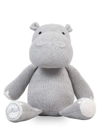 Knuffel Soft Knit Hippo Light Grey