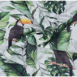 Mousseline Zomerdeken Toucan 120 x 200 cm