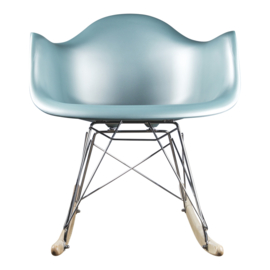 Schommelstoel Volwassenen Eames Metallic turquoise/lichtblauw