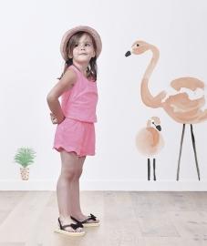 Muursticker XL Kinderkamer Lilipinso: Flamingo Roze