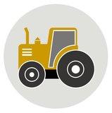 Muurcirkel Kinderkamer Tractor Okergeel