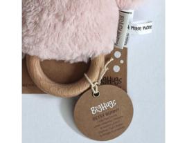 Rammelaar / Bijtring Konijn Betsy Roze van O.B. Designs