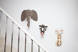 Dierenkop Olifant Medium van Fiona Walker