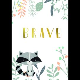 Poster Kinderkamer Brave Racoon
