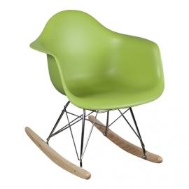 Schommelstoel voor kinderen Eames Junior Groen