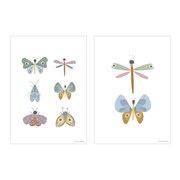 Poster Kinderkamer Butterflies A3 formaat