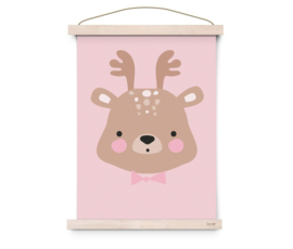 "Poster Kinderkamer ""Forrest Animals – Ms. Deer"" Eef Lillemor"