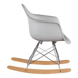 Schommelstoel voor kinderen Eames Junior Licht Grijs