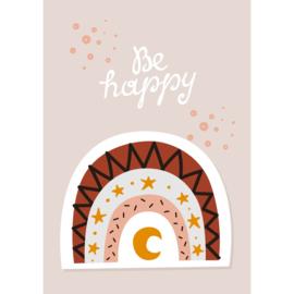 Poster Kinderkamer Be Happy