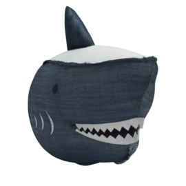 Dierenkop Kinderkamer Denim Shark Stapelgoed