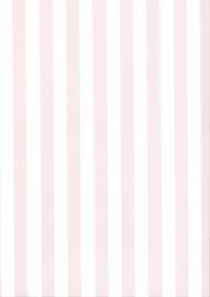 Behang Kinderkamer Roze / Wit gestreept Fabs World