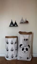 Wandplank Kinderkamer Tipi Shelf Black
