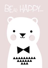 Poster Kinderkamer Bear Happy