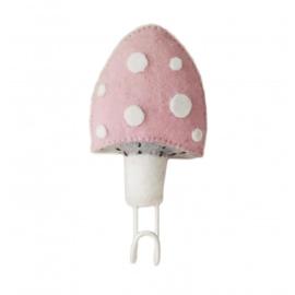 Wandhaakje Mushroom Pink Fiona Walker