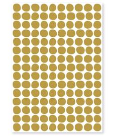 Muurstickers Kinderkamer Spots Mustard
