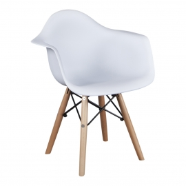 Kinderstoel Eames Junior Wit