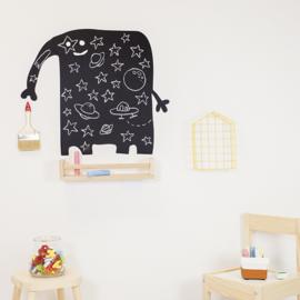 Muursticker Kinderkamer Chispum: Elephant blackboard