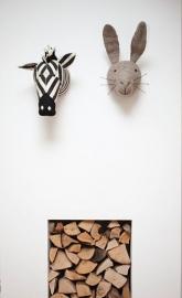 Dierenkop Grijze Haas van Fiona Walker