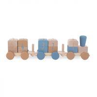 Houten Speelgoedtrein Blue