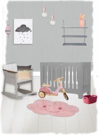 """Vloerkleed Kinderkamer """"Happy Cloud Pink"""""""