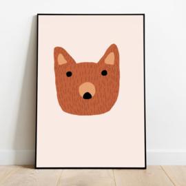 Poster Kinderkamer Brown Bear