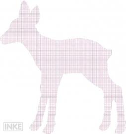 Inke Behangfiguren Hertenjong Roze (0204)