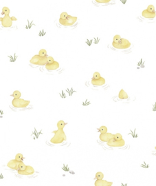 Behang Kinderkamer Yellow Ducks Lilipinso