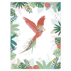 Poster Kinderkamer Papegaaien Vlucht