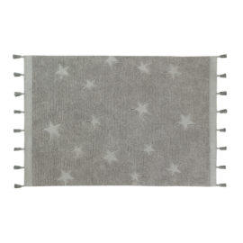 Vloerkleed Kinderkamer Hippy Stars Grey